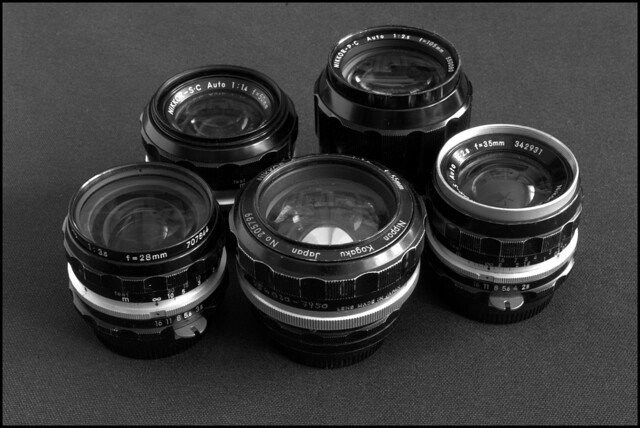 Group portrait of my F lenses