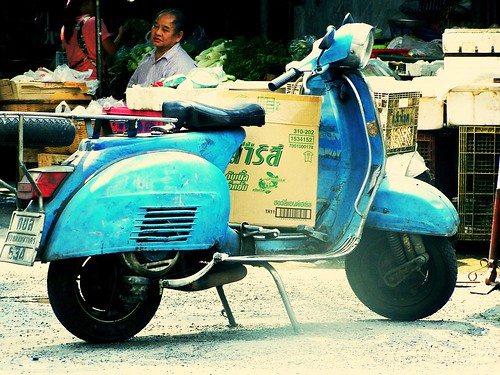 Vespa seen in China Town5 by 6/64