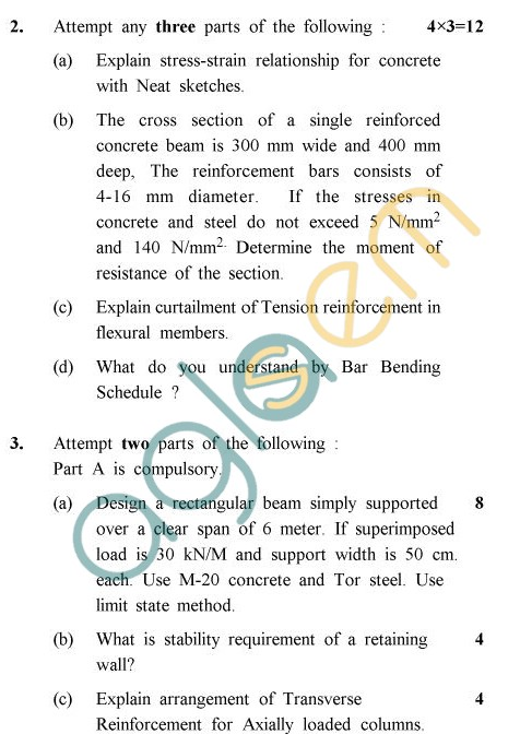 Uptu B Arch Question Papers Ar Architectural Structures Vi