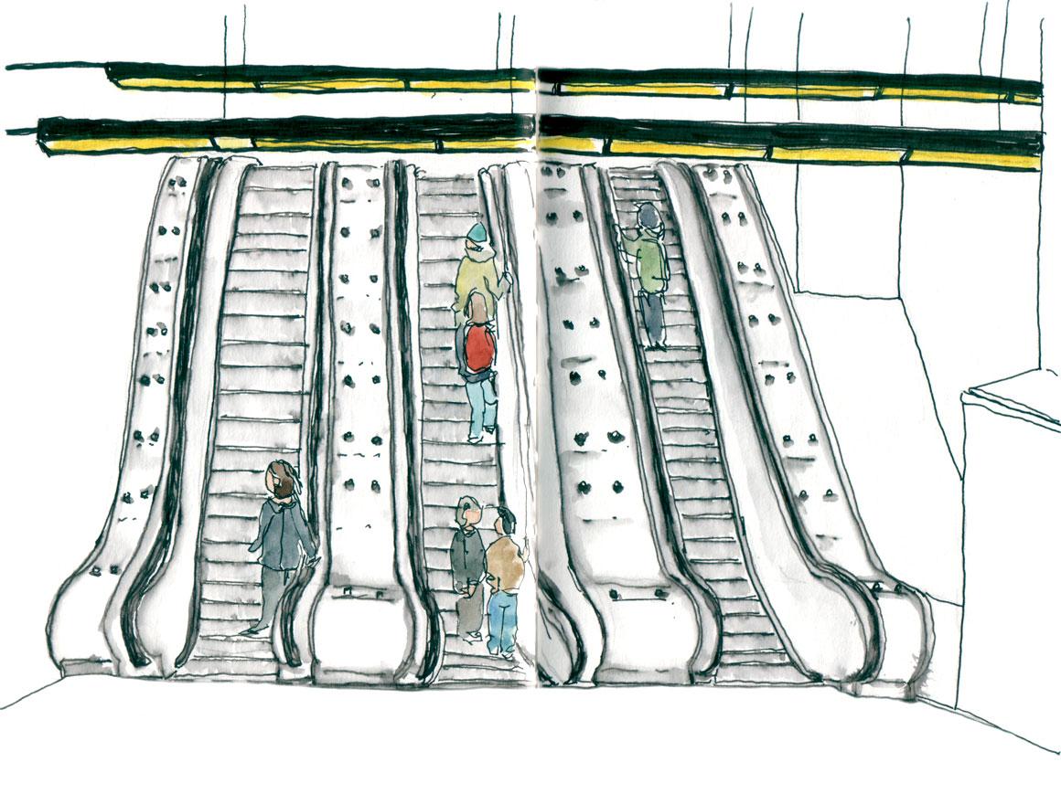Berri Uqam escalators