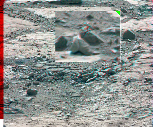 CURIOSITY sol 198 MastCam right left anaglyph detail