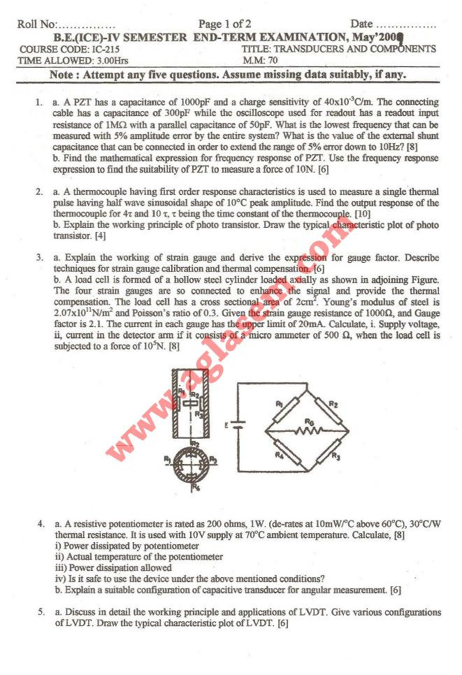 NSIT: Question Papers 2009 – 4 Semester - End Sem - IC-215