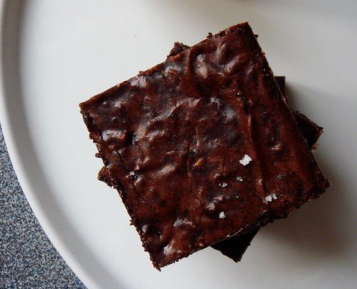 Fudgy Cocoa Brownies with Toffee