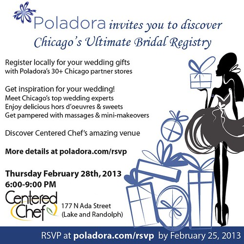 Join us tonight for Wedding Registry Romance with Poladora!