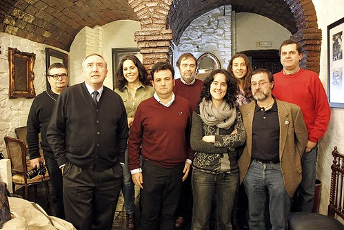 Foto de grupo: XXV Tertulia Bilbaina sobre deporte y periodismo