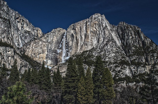 View of Yosemite Falls January