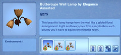 Buttercups Wall Lamp by Elegance Asserted