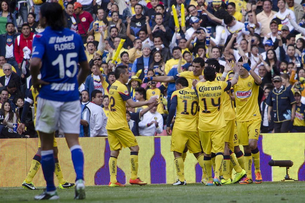 Cruz Azul goleó 4-0 al América - San Cadilla