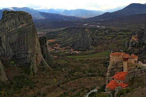 travel mountain landscape greece monastari