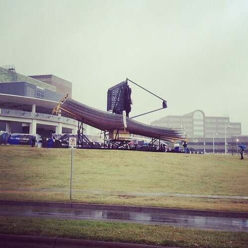 JWST Full-scale model in the rain at SXSW