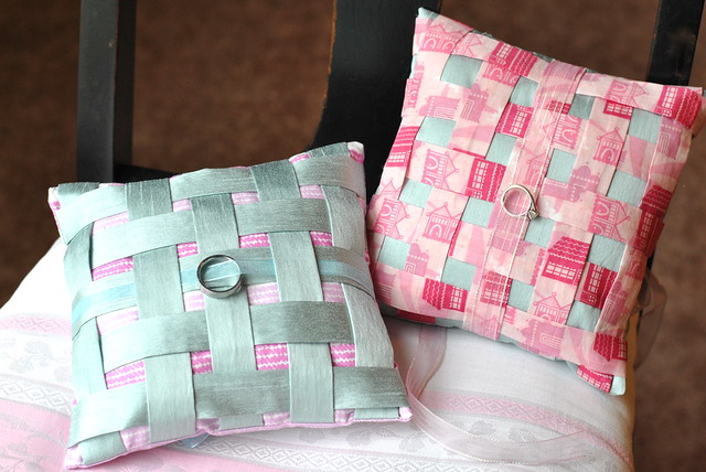 Woven Ring Pillows