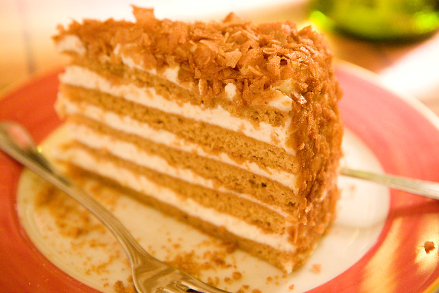 Ten-layer honey cake, Gosti, St. Petersburg