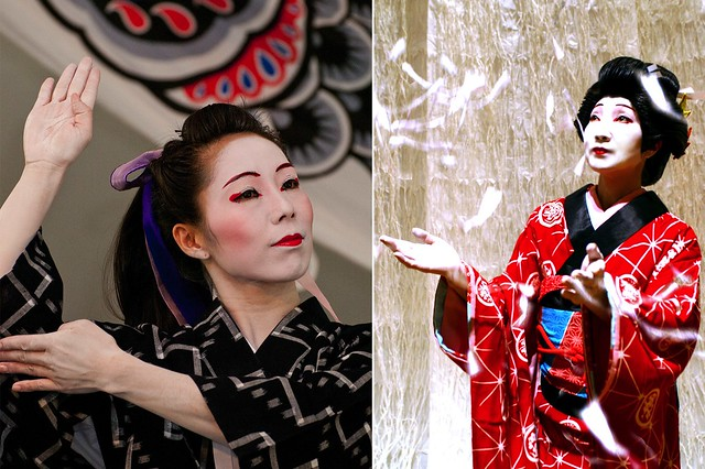 Dancejapan with Sachiyo Ito. Photos by Mike Ratliff (left) and courtesy of Dancejapan with Sachiyo Ito (right).