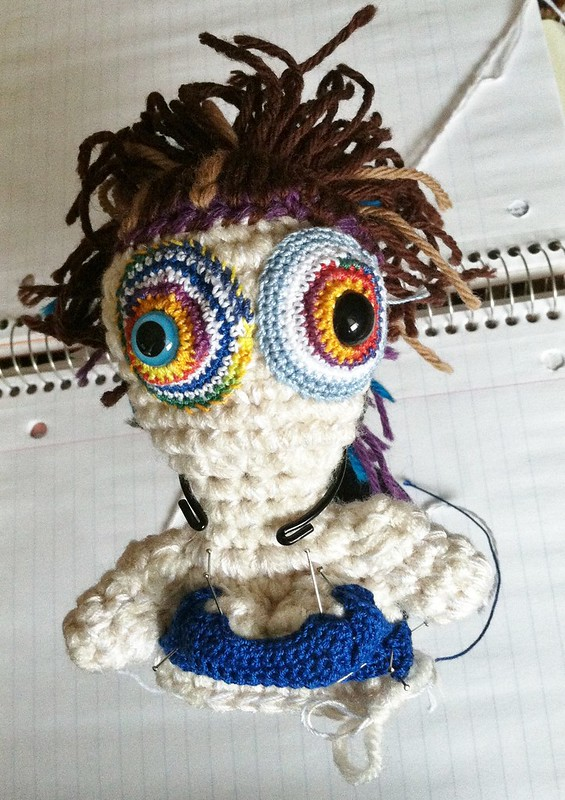 Lady Monster work in progress by Knot By Gran'ma