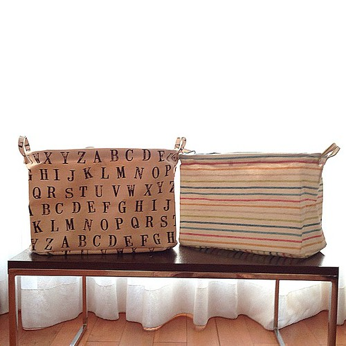 [NEW DESIGNS] Some pretty storage for your home or office! Large foldable baskets :)