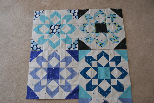 Fireworks Quilt Five Blocks