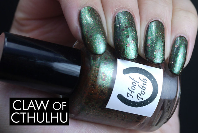 Hoof Polish Rock Afire Swatch (over Cult Nails Swanbourne)