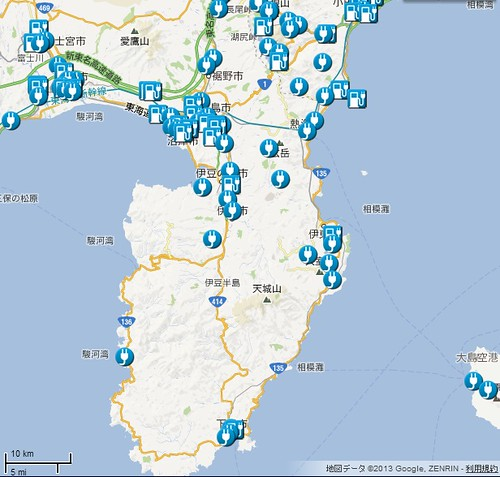 伊豆半島周辺充電インフラ