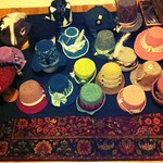 Nightly progress shot of the Hat Cave - in prep for Jane Austen Fest 2013. #QuickToTheHatCave!