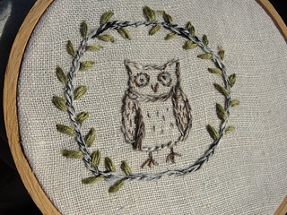 little owl embroidery