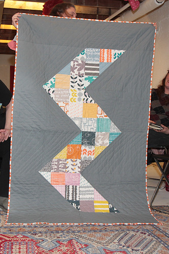 Lisa's chevron quilt