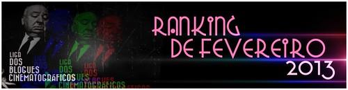 RANKING DE FEVEREIRO 2013