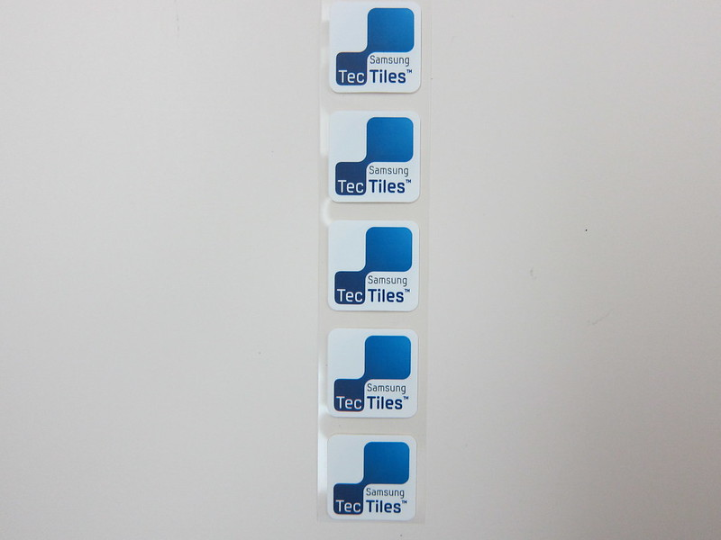 Samsung TecTiles NFC Tags - Front View