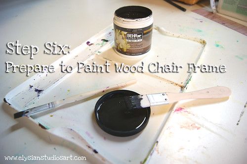 Supplies for painting wood of chair