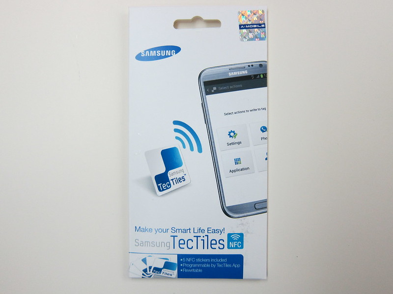 Samsung TecTiles NFC Tags - Packaging Front View