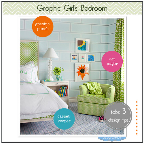 green-graphic-girl's-bedroom