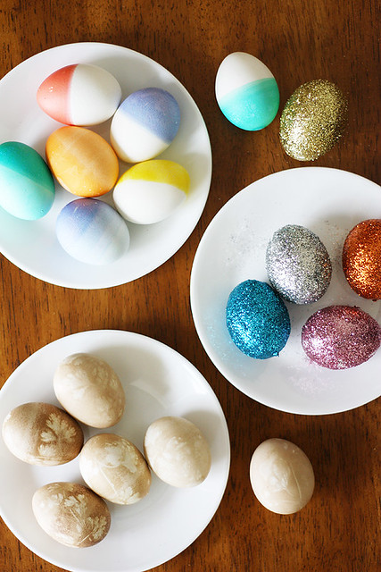 easter eggs, three ways
