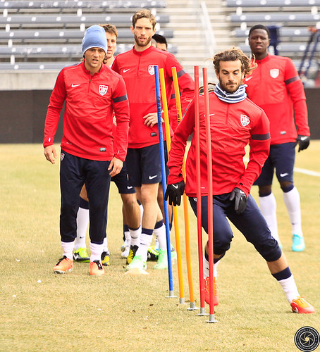 Kyle Beckerman USMNT practice for the Match on the 22nd of March in Colorado by Corbin Elliott Photography
