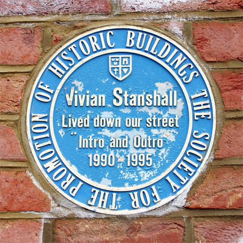 Vivian Stanshall blue plaque - Vivian Stanshall, lived down our street