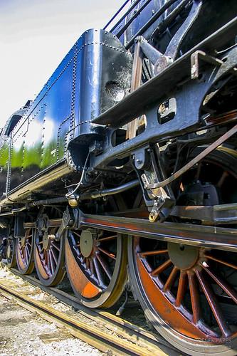 Locomotive carrying landscape by Zdenek Papes
