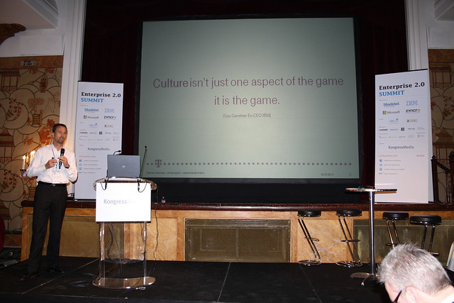 Enterprise 2.0 SUMMIT 2013 - Stephan Grabmeier on the importance of culture in the E2.0 game!