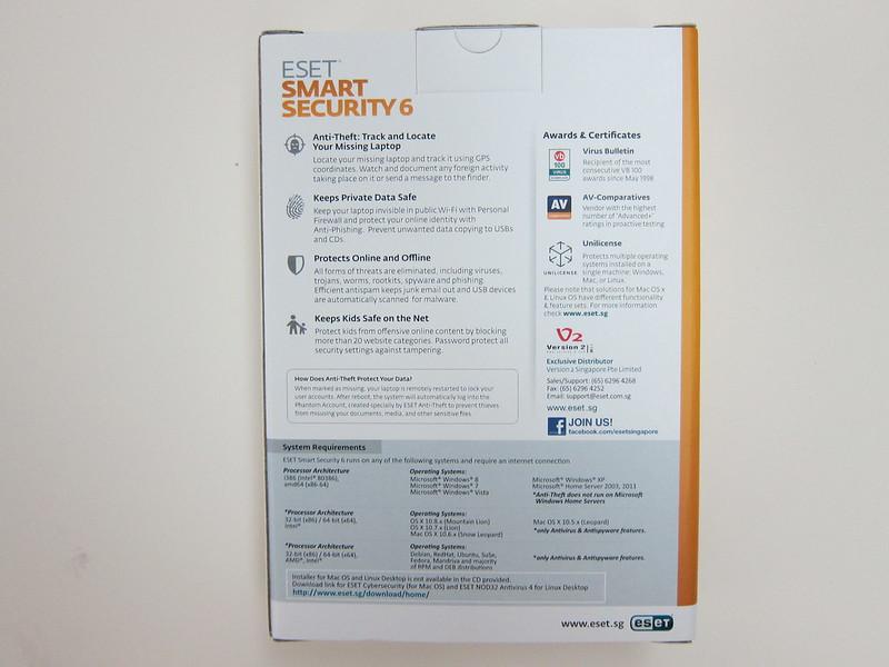 ESET Smart Security 6 - Box Back