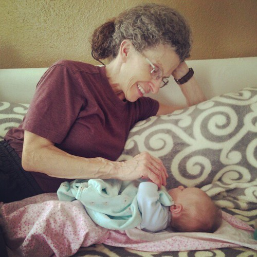 Grandma and Adaryn playing :)