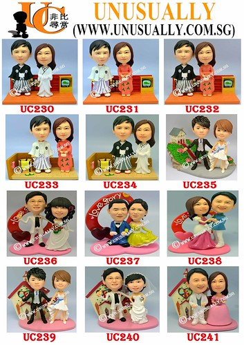 Custom 3D Lovely Couple Figurines Summary Design List - UC230 - UC241 - @www.unusually.com.sg