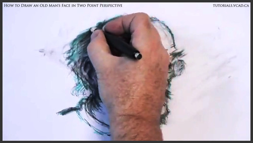 learn how to draw an old man's face in two point perspective 039