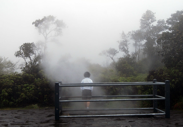Chunlin at the Kilauea Steam Vent