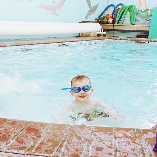 My little fishy. He is doing SO well at swimming lessons. #momentswitho #swimmer