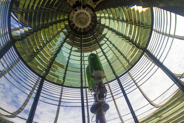 First-order Fresnel lens at Block Island Southeast Lighthouse, Rhode Island