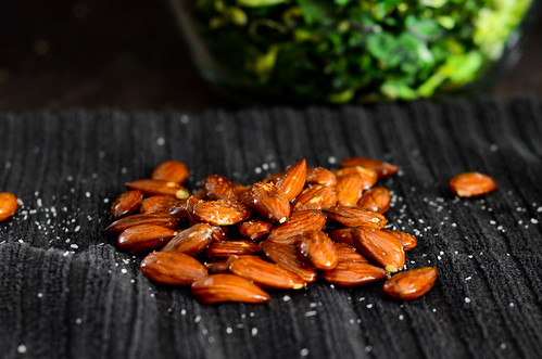 salty toasted almonds