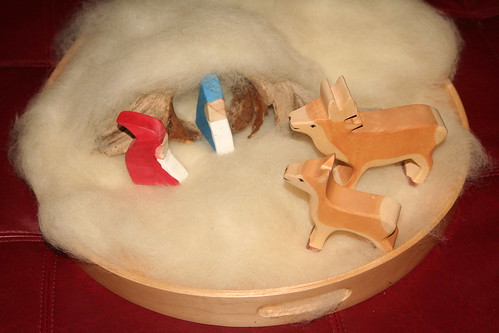Woolen Winter Playscape, gnomes and deer