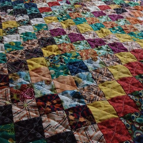 closeup of the quilting