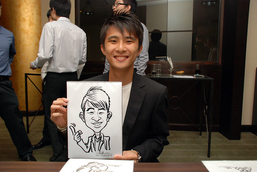 caricature live sketching for NUS - 3