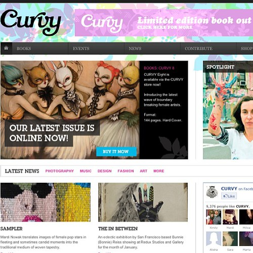 Hey!! There's a bit of action on curvy-world.com about my upcoming exhibition!! Super!!
