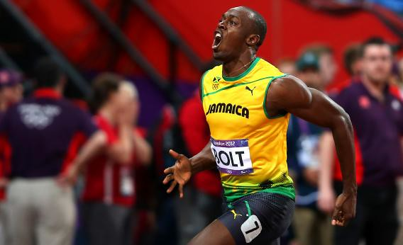 Usain bolt at the olympic games