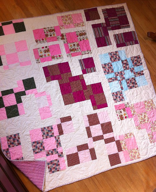Vintage quilt reworked softly