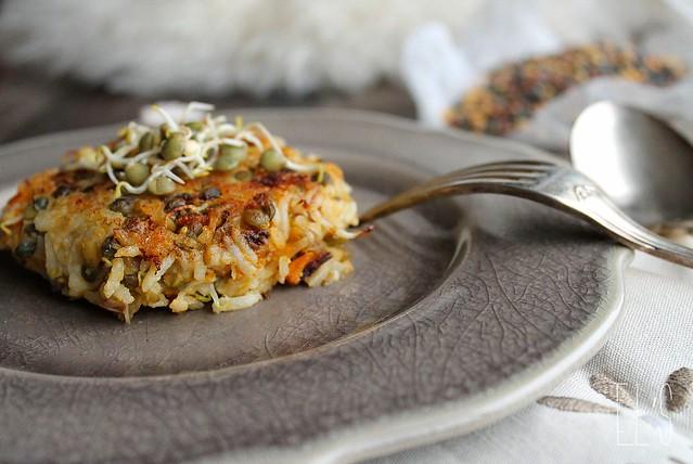 Galettes végétales de riz
